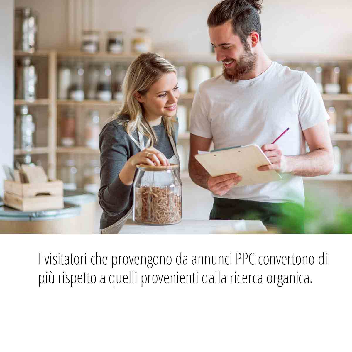 Statistiche Campagne PPC i visitatori che provengono da annunci PPC convertono di più rispetto a quelli provenienti dalla ricerca organica