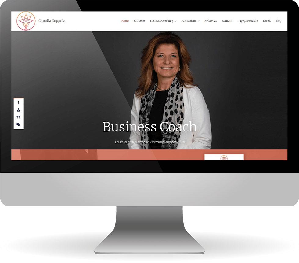 Nuovo sito di Claudia Coppola Coach realizzato da Factory Communication Inbound Marketing