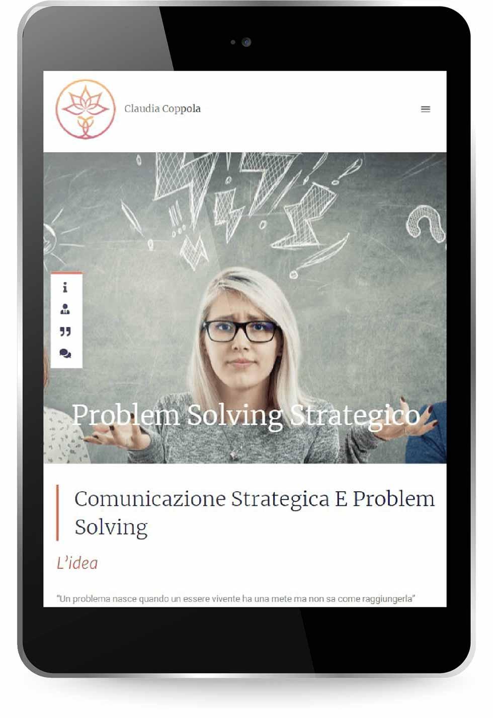 Nuovo sito con WordPress realizzato da Factory Communication Agenzia di Marketing e Comunicazione per Claudia Coppola Coach