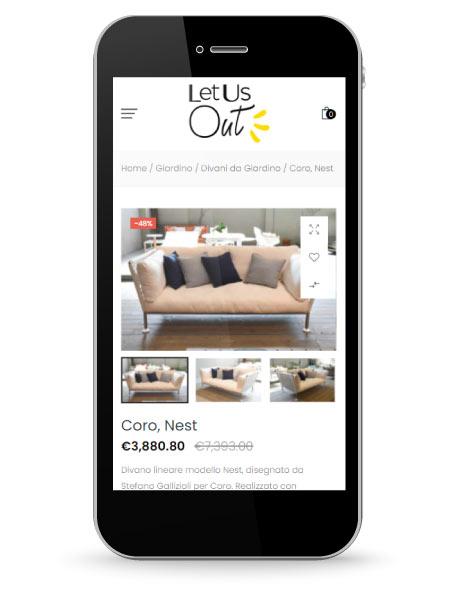 Factory Communication ha realizzato il Marketplace di arredamento per LetUsOut