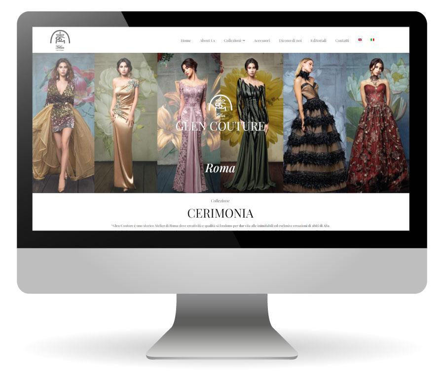Factory Communication ha realizzato il nuovo sito internet di Glen Couture