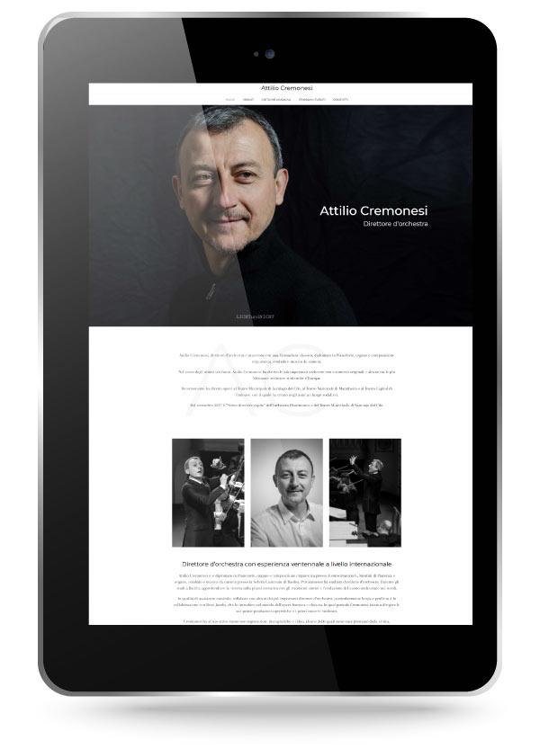 Factory Communication ha realizzato il sito del Direttore d'Orchestra Attilio Cremonesi