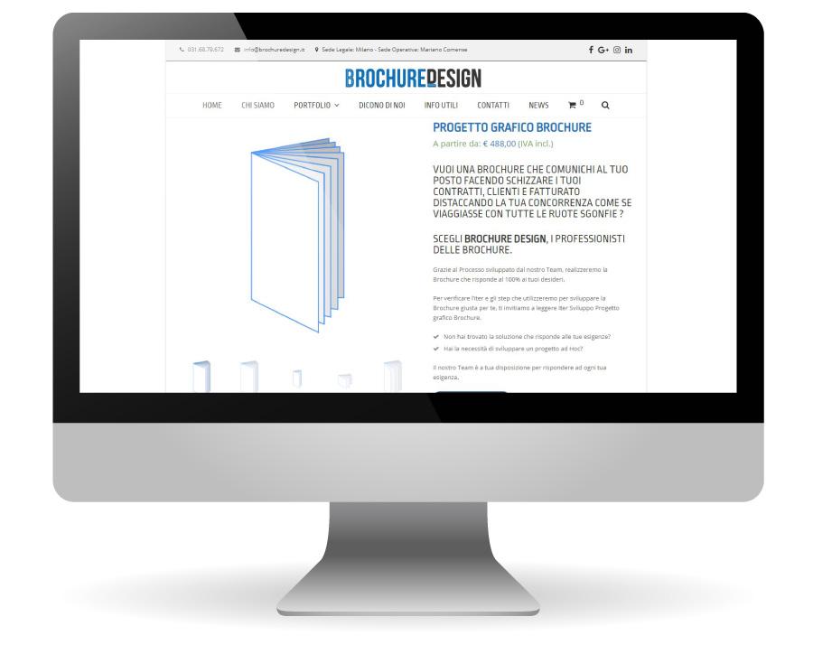 Factory Communication realizzazione di E commerce per Brochure Design