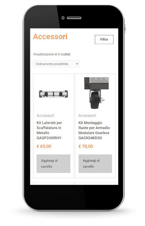 Factory Communication realizzazione di E commerce per Garage Mania Accessori