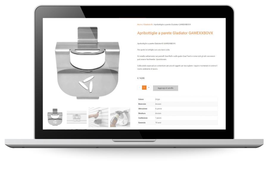 Factory Communication realizzazione di E commerce per Garage Mania prodotto