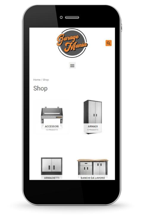 Factory Communication realizzazione di E commerce per Garage Mania