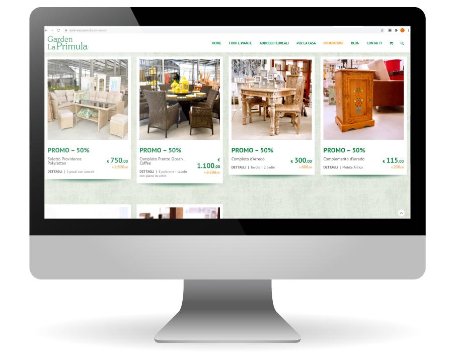 Factory Communication realizzazione di E commerce per Garden La Primula