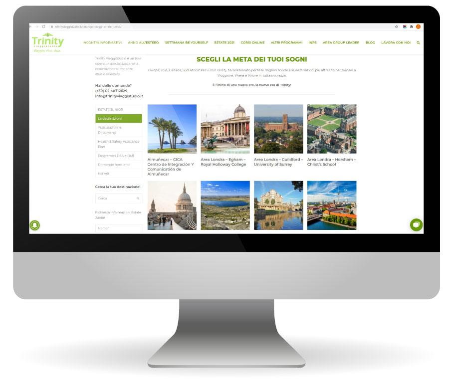 Factory Communication realizzazione di E commerce per Trinity Homepage
