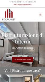 Visual sito EdilPlanet su mobile
