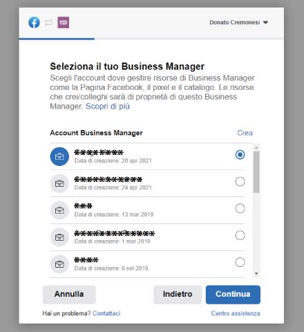 Factory Communication Setup plugin Facebook for WooCommerce - STEP 2