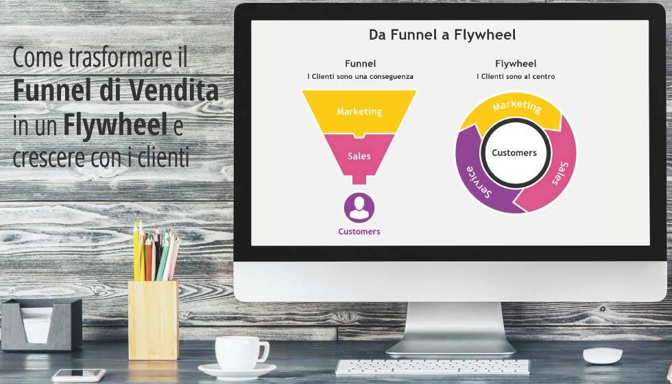 Come trasformare il Funnel di Vendita in un Flywheel e crescere con i clienti