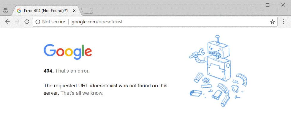 Page error di google e User Experience di un sito web