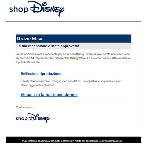 la recensione che ho pubblicata sullo Shop Disney