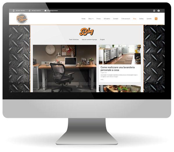 Factory Communication realizza il nuovo sito e-commerce per Garage Mania