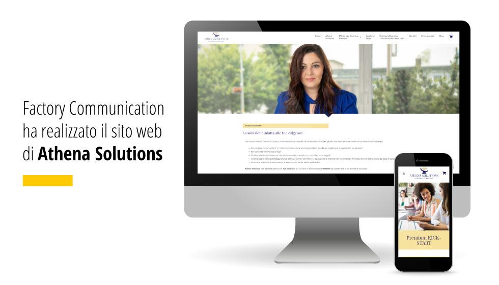 Factory Communication Realizza Il Nuovo Sito Web Di Athena Solutions