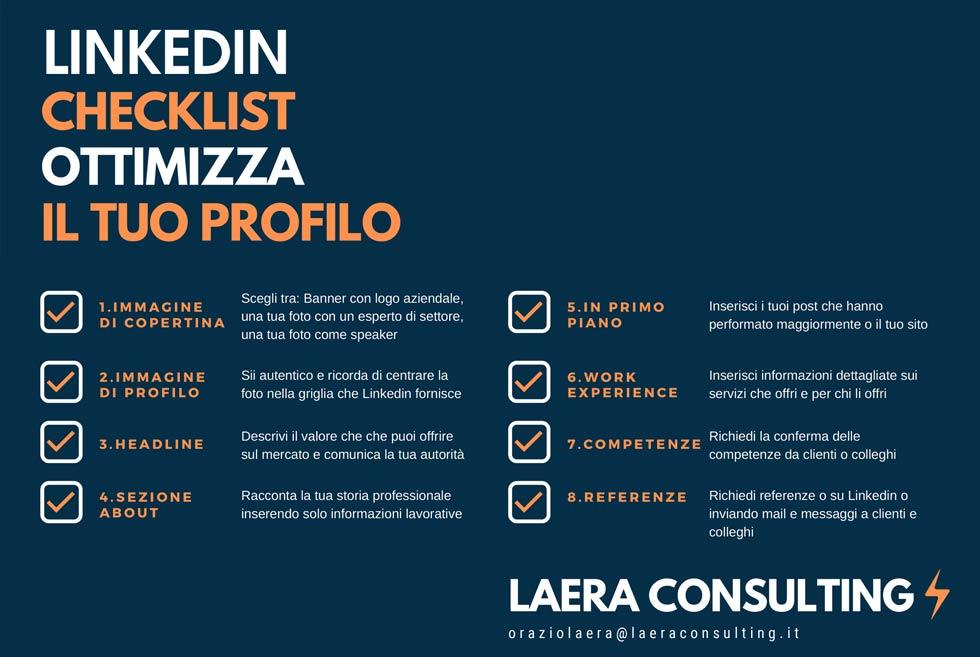 Laera Consulting Checklist ottimizzazione profilo Linkedin