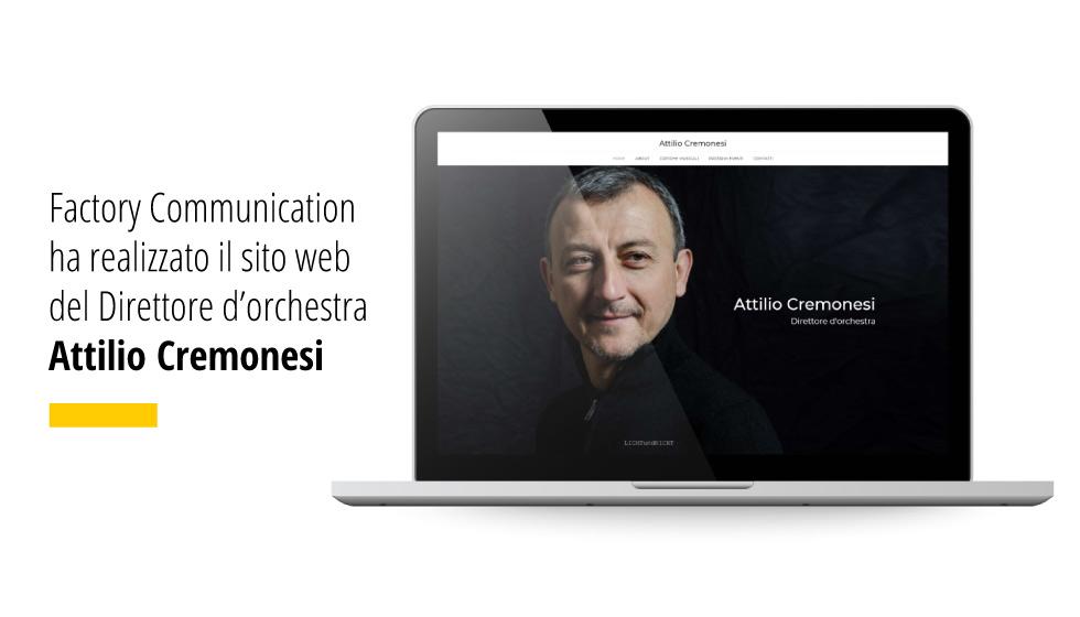 Online Il Nuovo Sito Del Maestro Attilio Cremonesi - Factory Communication