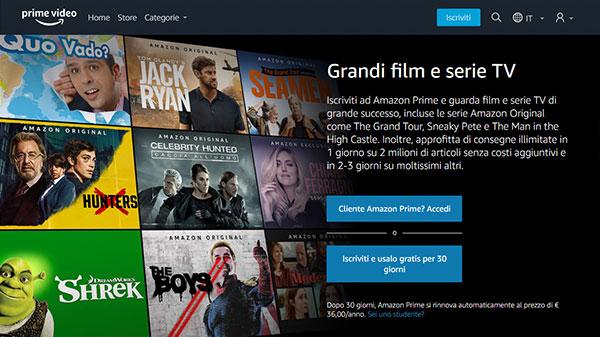 Prova gratuitamente Amazon Prime
