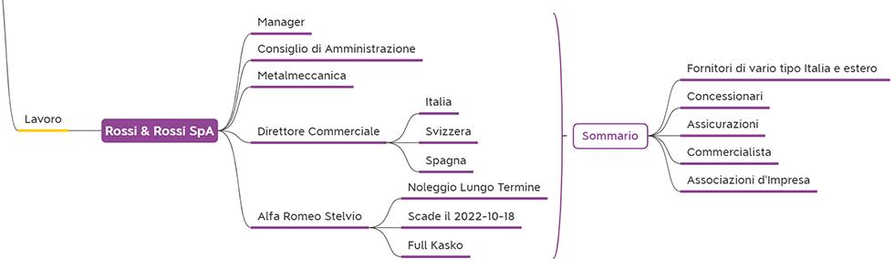Analisi Anagrafica di un CRM informazioni di contatto lavorative