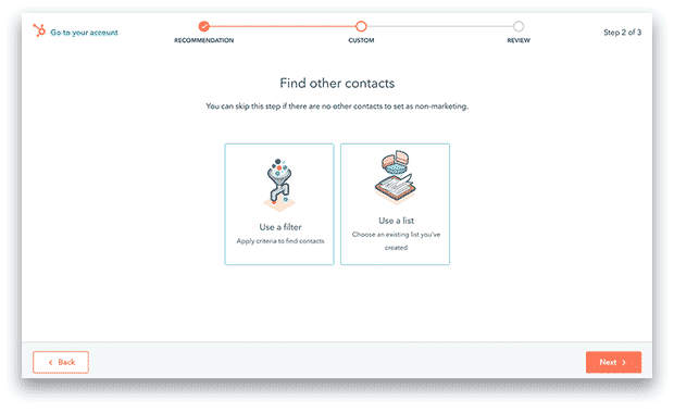 Factory Communication Gestione contatti marketing in HubSpot. Contrassegna l'idoneità con facilità