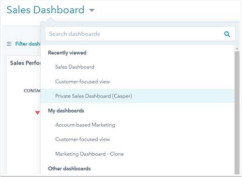 HubSpot Marketing Hub Dashboard flessibili