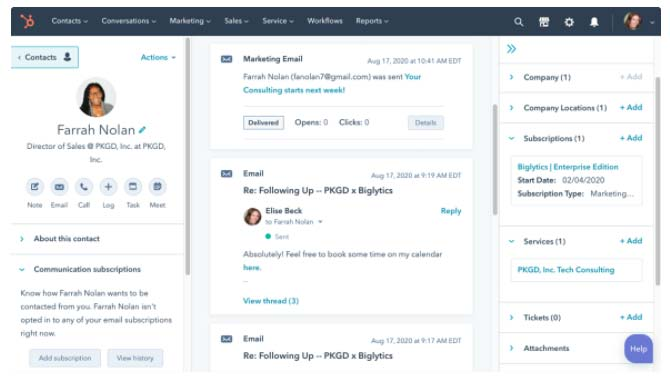 HubSpot Sales Hub Oggetti personalizzati