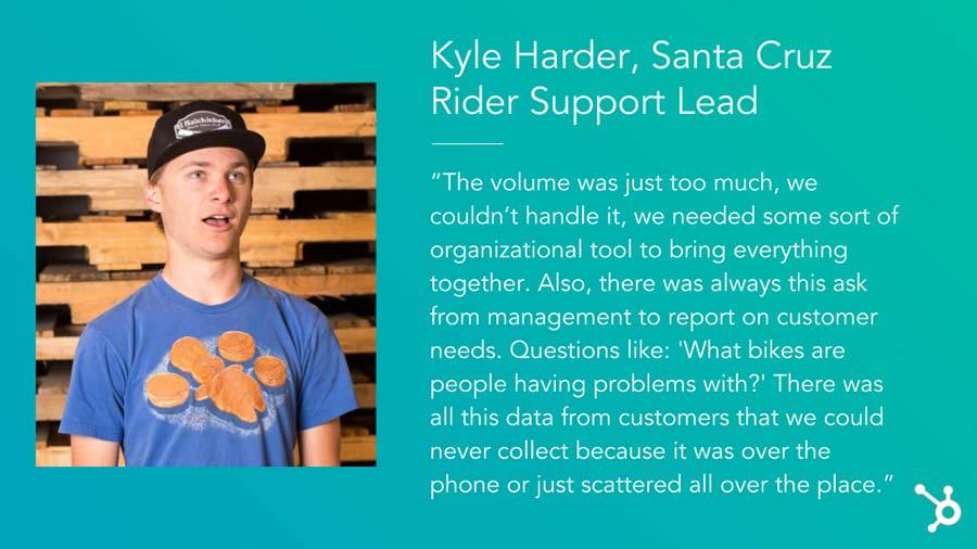 """Factory Communication """"14 Strategie di Fidelizzazione dei clienti che funzionano"""". Il caso """"Kyle Harder Santa Cruz Rider Support Lead"""""""