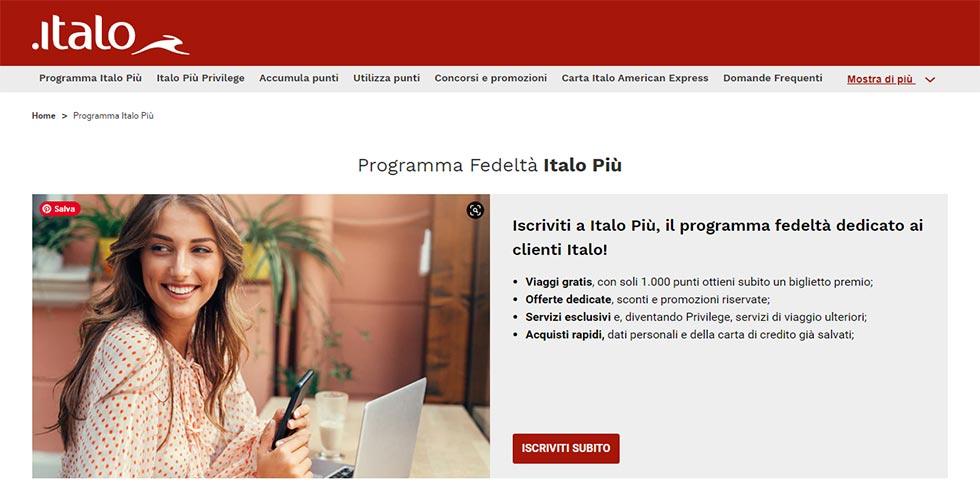 Programma fedeltà di Italo