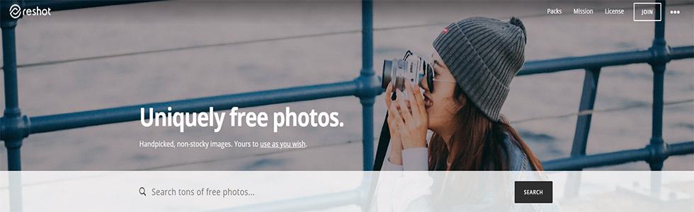 Reshot sito per scaricare foto gratis