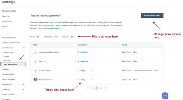 Service Hub Advanced Team Management Functionality