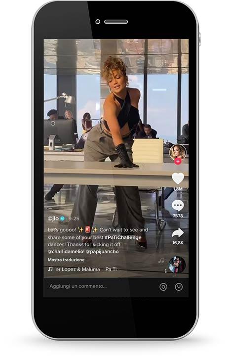 TikTok for Business strategia Jennifer Lopez