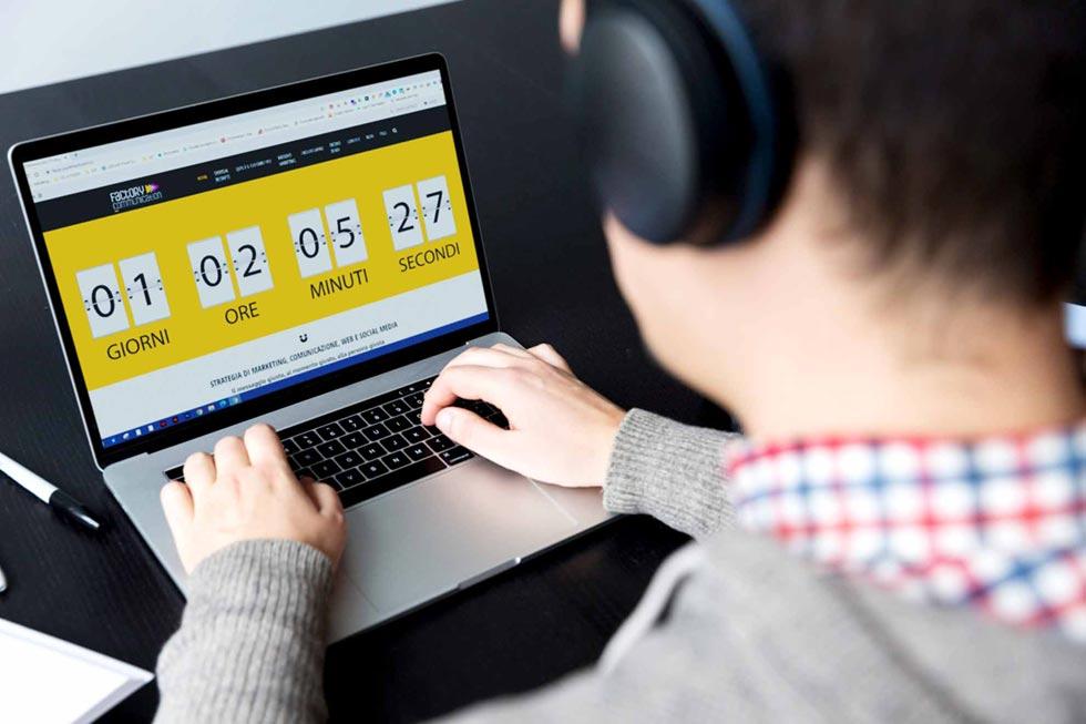 Utilizza il Countdown sulla landing page e sulle email marketing dall'articolo di Factory Communication