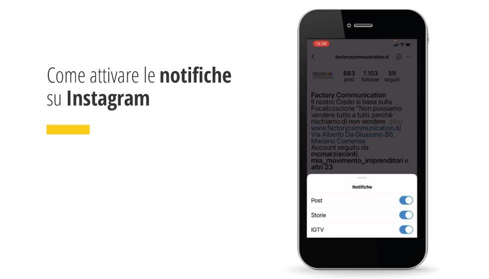 In questo articolo la nostra collega Valeria spiega, in un breve video, come attivare le notifiche su Instagram.