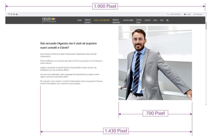 Layout relativo lo spazio occupato da un'immagine in una pagina web