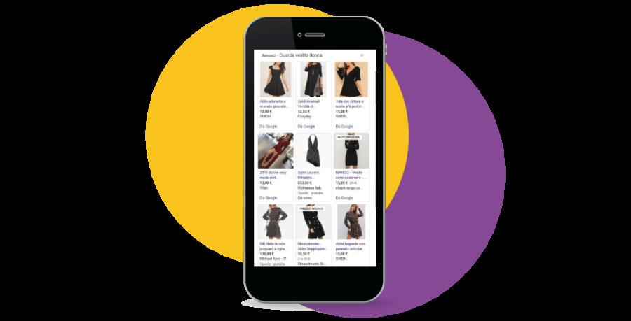 Annunci a pagamento vestito donna per SERP Google