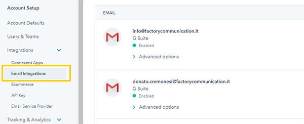 Connetti le tue caselle di email ad HubSpot