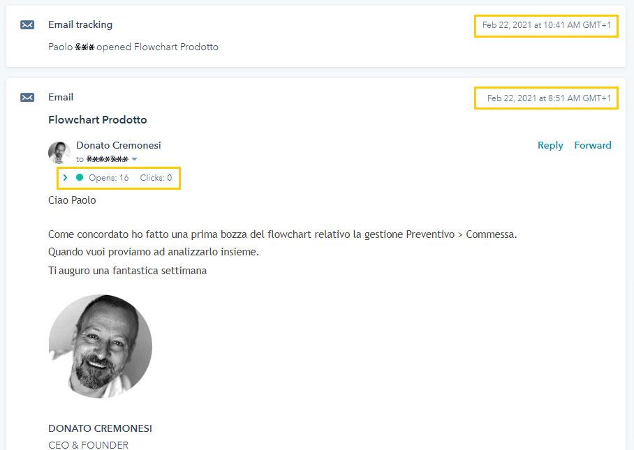 Grazie ad HubSpot puoi sapere quando vengono lette le tue email