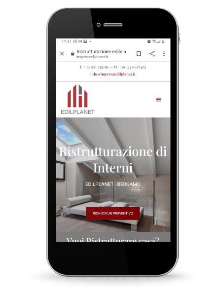 Factory Communication ha realizzato il nuovo sito internet della impresa edile Ediplanet