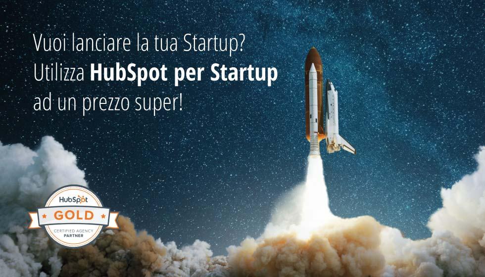 Vuoi lanciare la tua Startup? Utilizza HubSpot per Startup ad un prezzo super!