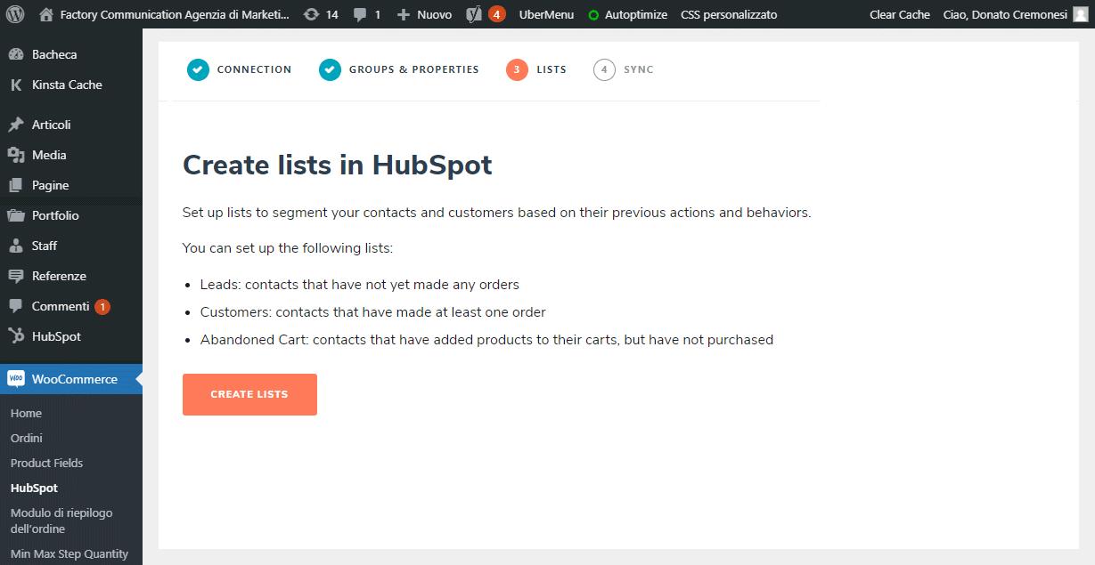 Crea le liste per gestite i contatti in HubSpot