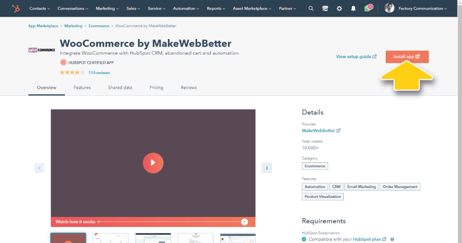 Installazione WooCommerce by MakeWebBetter